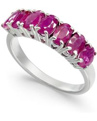 Macy's - Ruby Seven-stone Ring (2-3/8 Ct. T.w.) In Sterling Silver - Lyst