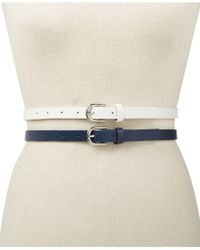 INC International Concepts - 2-for-1 Embossed & Solid Belts, Created For Macy's - Lyst