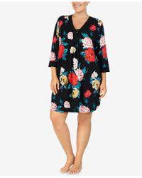 Ellen Tracy - Plus Size Flower-print Short Caftan - Lyst