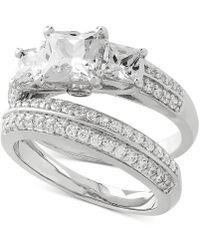 Arabella - 2-pc. Cubic Zirconia Ring Set In Sterling Silver - Lyst