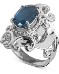 Carolyn Pollack - London Blue Topaz Filigree Statement Ring (3-1/3 Ct. T.w.) In Sterling Silver - Lyst