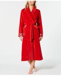 Sesoire - Velvet Fleece Wrap Robe - Lyst