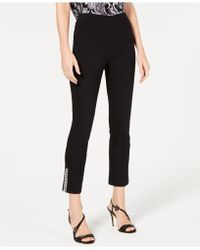 INC International Concepts - I.n.c. Embellished-hem Pull-on Straight Pants, Created For Macy's - Lyst
