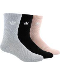adidas Originals - 3-pk. Originals Cotton Quilted Crew Socks - Lyst