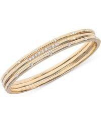 Anne Klein - Gold-tone Crystal Studded Bracelet - Lyst