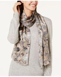 Echo - Floral & Fauna Silk Scarf - Lyst
