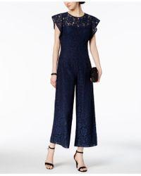 Donna Ricco - Lace Jumpsuit - Lyst