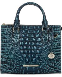 Brahmin - Melbourne Anywhere Embossed Leather Satchel, Created For Macy's - Lyst