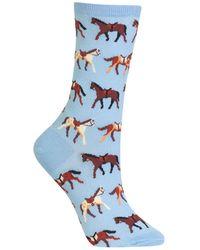 Hot Sox Horses Fashion Crew Socks
