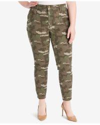 William Rast - Plus Size Camo-print Cargo Pants - Lyst