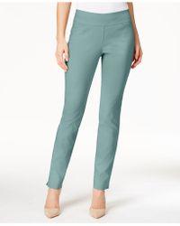Charter Club - Petite Cambridge Tummy-control Slim-leg Trousers, Created For Macy's - Lyst