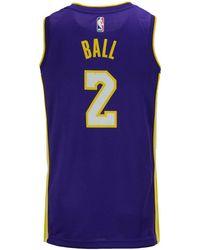 Nike - Lonzo Ball Los Angeles Lakers Icon Swingman Jersey - Lyst