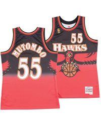 d2bb82af3b3 Mitchell & Ness - Dikembe Mutombo Atlanta Hawks Hardwood Classic Swingman  Jersey - Lyst