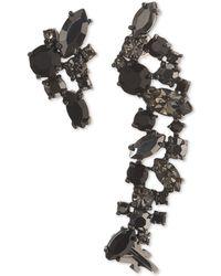 Marchesa - Hematite-tone Stone Cluster Ear Climber & Stud Mismatch Earrings - Lyst