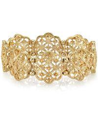2028 - Gold-tone Filigree Bracelet - Lyst