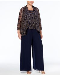 Alex Evenings - Plus Size 3-pc. Lace Pantsuit - Lyst