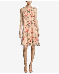 Eci - Embroidered A-line Dress - Lyst