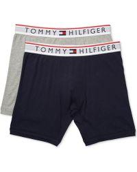 59a5bbc54c32 Tommy Hilfiger Modern Essentials 2-pack Boxer Briefs for Men - Lyst