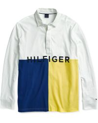 Tommy Hilfiger - James Rugby Shirt With Magnetic Buttons - Lyst