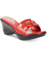 Callisto | Laylee Slide Wedge Sandals | Lyst