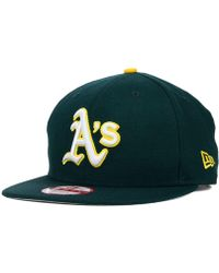 first rate 73e60 7c541 KTZ Kids Oakland Athletics Single A 39thirty Cap in Green for Men - Lyst