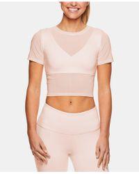 Gaiam - X Jessica Biel Melrose Mesh Medium-impact Sports Bra Cropped Top - Lyst