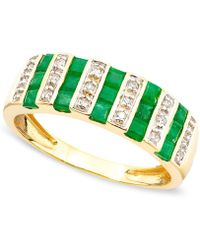 Macy's - Gemstone (9/10 Ct. T.w.) And Diamond (1/10 Ct. T.w.) Ring In 14k Gold Or White Gold - Lyst
