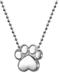 Alex Woo - Little Activists By Paw Pendant Necklace In Sterling Silver - Lyst