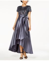 R & M Richards - High-low Sequin-embellished Gown - Lyst