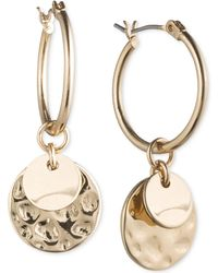 Lonna & Lilly - Gold-tone Multi-disc Hoop Earrings - Lyst