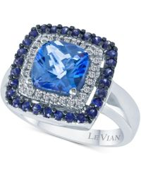 Le Vian - ® Multi-gemstone (2-5/8 Ct. T.w.) & Diamond (1/10 Ct. T.w.) Statement Ring In 14k White Gold - Lyst