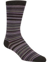 Cole Haan - Multi Stripe Crew Socks - Lyst