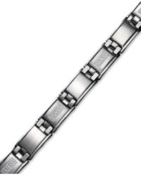 Macy's - Men's Diamond Bracelet In Stainless Steel (3/4 Ct. T.w.) - Lyst