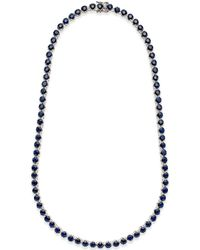 Macy's - Black Sapphire Collar Necklace (25 Ct. T.w.) In Sterling Silver, Created For - Lyst