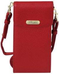 Buxton - Pebble Rfid Cell Phone Crossbody - Lyst