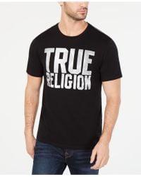 True Religion - Eclipse Logo Graphic T-shirt - Lyst