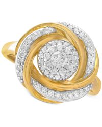 Wrapped in Love - 14k Gold Diamond Knot Ring (1/2 Ct. T.w.) - Lyst