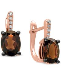Effy Collection - Effy® Smoky Quartz (2 Ct. T.w.) & Diamond Accent Drop Earrings In 14k Rose Gold - Lyst