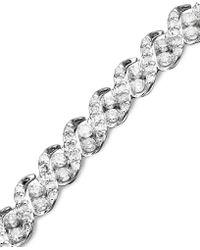 Macy's - Diamond Bracelet In 14k White Gold (3 Ct. T.w.) - Lyst