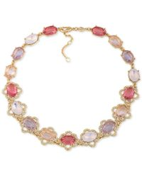 Carolee - Gold-tone Multi-stone Collar Necklace - Lyst