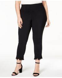 Style & Co. - Plus Size Fringe-hem Cropped Pants, Created For Macy's - Lyst