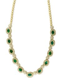 Effy Collection - Emerald (4-3/4 Ct. T.w.) And Diamond (2-3/4 Ct. T.w.) Collar Necklace In 14k Gold - Lyst