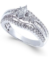 Macy's | Diamond Marquise Engagement Ring (1 Ct. T.w.) In 14k White Gold | Lyst