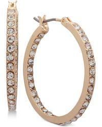 Nine West - Crystal In & Out Hoop Earrings - Lyst