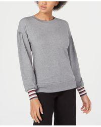 Maison Jules - Striped-cuff Sweatshirt, Created For Macy's - Lyst