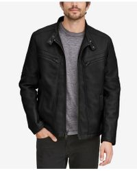 Marc New York - Corbett Faux-leather Jacket With Removable Hood - Lyst