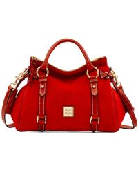 Dooney & Bourke - Suede Satchel - Lyst