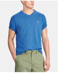 3ab5100f Polo Ralph Lauren Wimbledon Custom-fit Flag T-shirt in Blue for Men ...