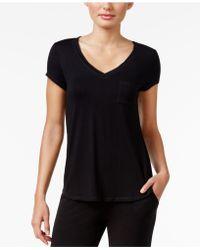 Alfani - Chiffon-trimmed Knit Pajama Top - Lyst