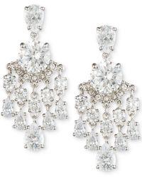 Carolee | Silver-tone Crystal Chandelier Earrings | Lyst